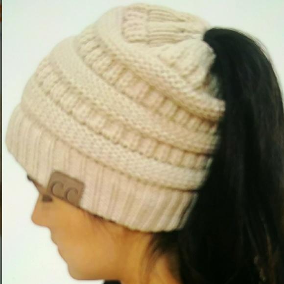 b73f27ccb SALE💋CC Quality Knit Messy Bun Beanie Boutique